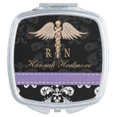 Purple Registered Nurse Rn Caduceus Mirror For Makeup at Zazzle
