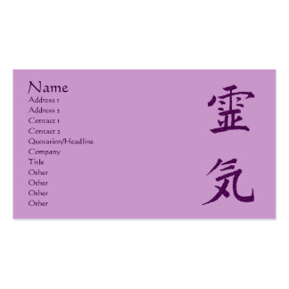 Purple Reiki Symbol Principles Business Card