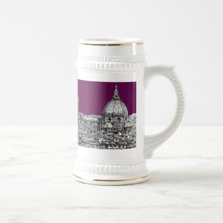 Purple renaissance drawing beer stein