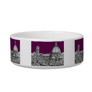 Purple renaissance drawing bowl