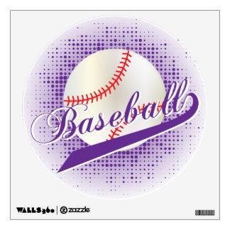 Purple Retro Baseball Style Wall Decal