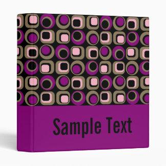 Purple Retro Binder Notebook 3 Ring Binder