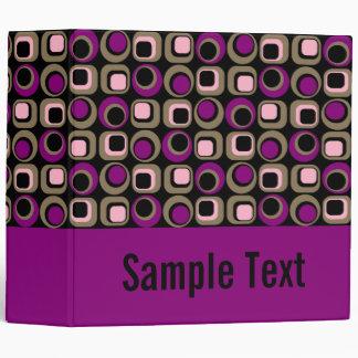 Purple Retro Binder Notebook Binders