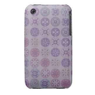 purple retro circles iPhone 3 cover