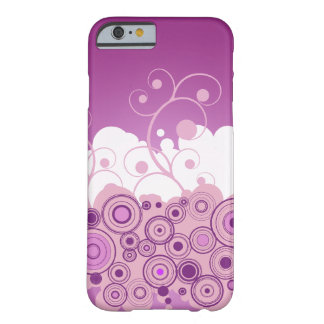 Purple Retro Circles With Swirls Barely There iPhone 6 Case