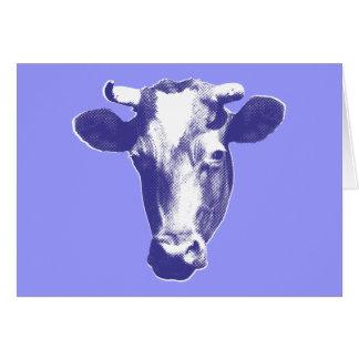 Purple Retro Cow Graphic Card