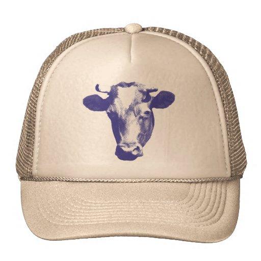 Purple Retro Cow Graphic Trucker Hat