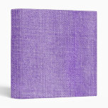 Purple Retro Denim Texture Vinyl Binders