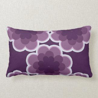 Purple retro flowers pillow