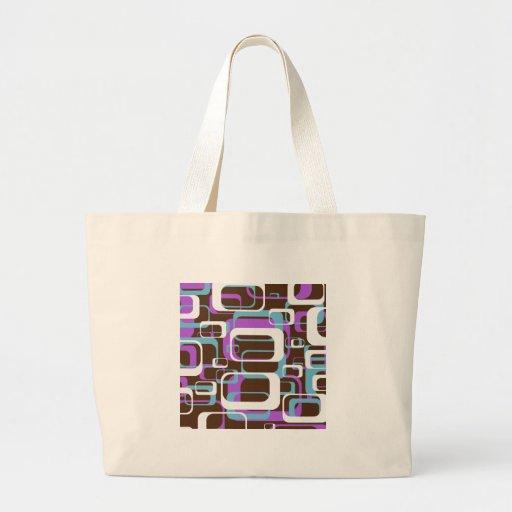 Purple Retro Jumbo Tote Bag