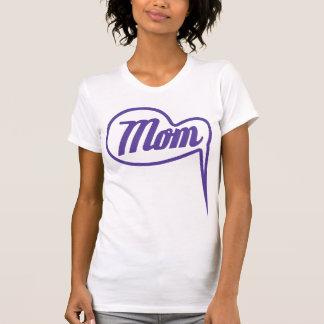 purple retro mom speech bubble t-shirt
