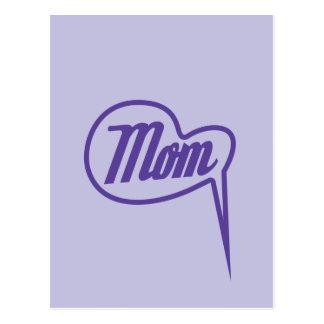 purple retro mother´s day speech bubble postcard