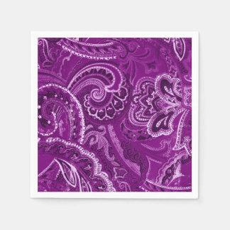 Purple Retro Paisley Bandanna/Bandana Napkin