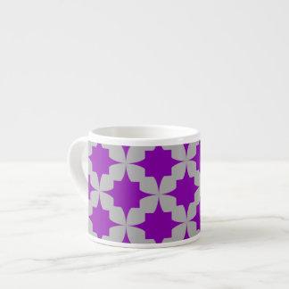 Purple Retro Star Espresso Mug