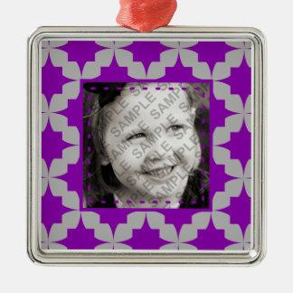 Purple Retro Star Ornament