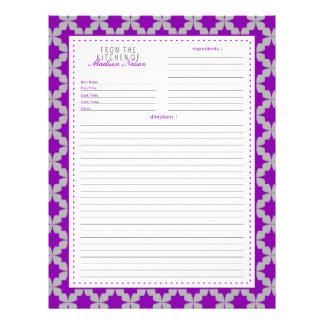 Purple Retro Star Recipe Page