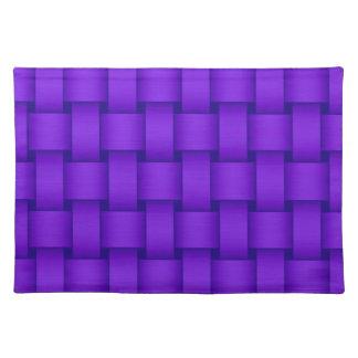 Purple retro stripes graphic design cloth placemat
