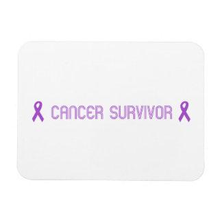 Purple Retro Survivor Magnet