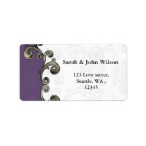 purple return address label