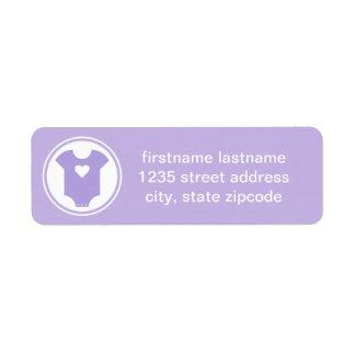 Purple Return Address Labels | Baby Shower