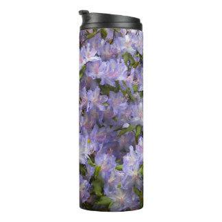 Purple Rhododendron Blossoms Floral Thermal Tumbler