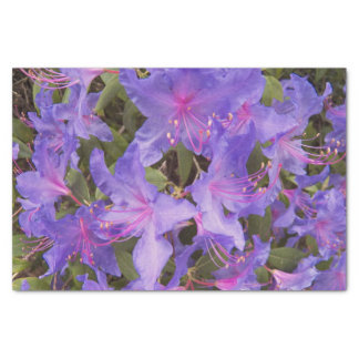 """Purple Rhododenron Blooms Floral 10"""" X 15"""" Tissue Paper"""