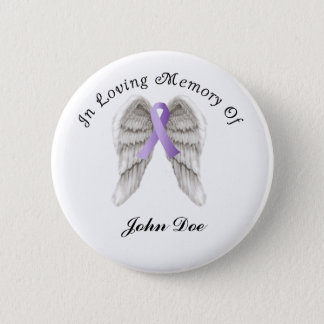 Purple Ribbon All Cancer In Memory Button