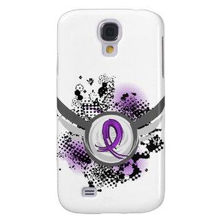Purple Ribbon And Wings Chiari Malformation Galaxy S4 Case