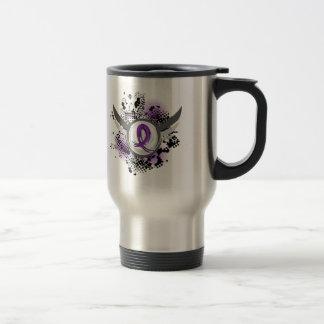 Purple Ribbon And Wings Chiari Malformation Mug