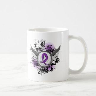 Purple Ribbon And Wings Chiari Malformation Coffee Mugs