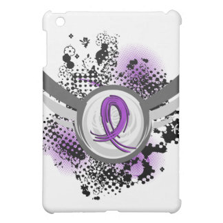 Purple Ribbon And Wings Cystic Fibrosis Case For The iPad Mini