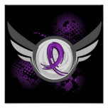 Purple Ribbon And Wings Cystic Fibrosis Print