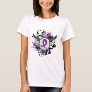 Purple Ribbon And Wings Epilepsy T-Shirt