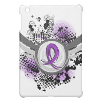Purple Ribbon And Wings Fibromyalgia Cover For The iPad Mini