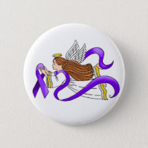"""Purple Ribbon"" Angel of Awareness Button"