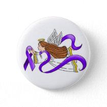 """Purple Ribbon"" Angel of Awareness Button"