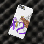 """Purple Ribbon"" Angel of Awareness Tough iPhone 6 Case"