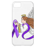 """Purple Ribbon"" Angel of Awareness iPhone 5C Cases"