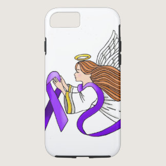 """Purple Ribbon"" Angel of Awareness iPhone 8/7 Case"