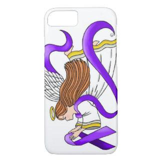 """Purple Ribbon"" Angel of Awareness iPhone 8/7 Case"