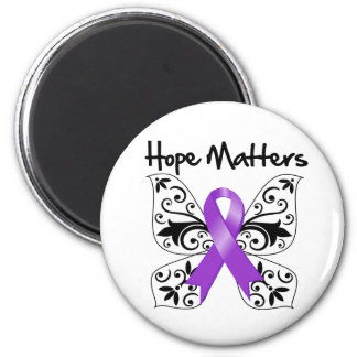Purple Ribbon Awareness Hope Matters 2 Inch Round Magnet