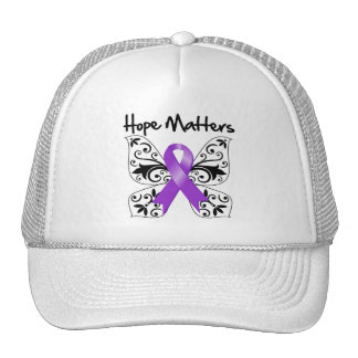 Purple Ribbon Awareness Hope Matters Trucker Hat