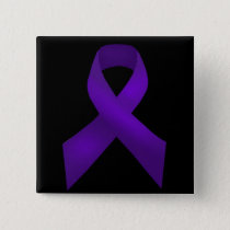 Purple Ribbon Awareness Lupus Button