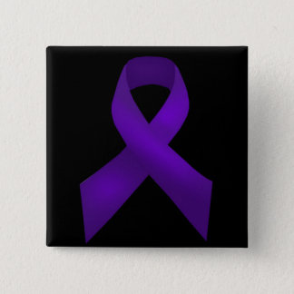 Purple Ribbon Awareness Lupus Button