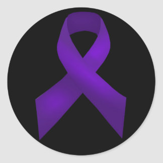 Purple Ribbon Awareness Lupus Classic Round Sticker