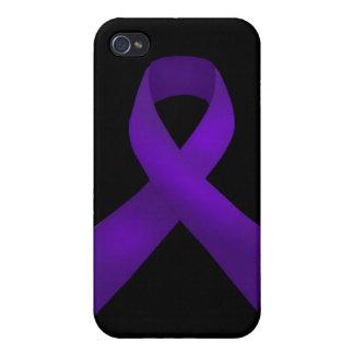 Purple Ribbon Awareness Lupus iPhone 4/4S Case