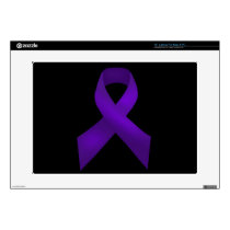Purple Ribbon Awareness Lupus Laptop Skins