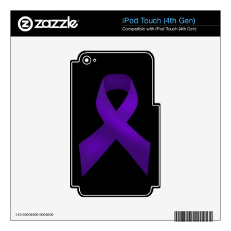 Purple Ribbon Awareness Lupus Skins For iPod Touch 4G