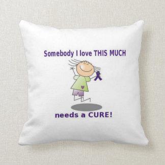 Purple Ribbon Awareness Pillow