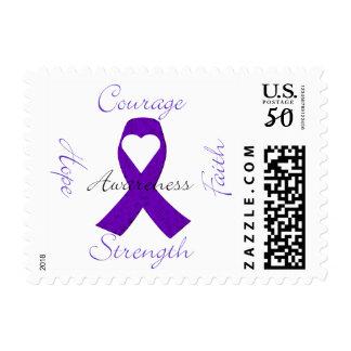 Purple Ribbon Awareness Stamp
